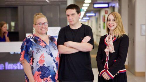 Cian Moore, Kerry Moore & Prof Stephanie Watson (C) Genepool Productions 2018